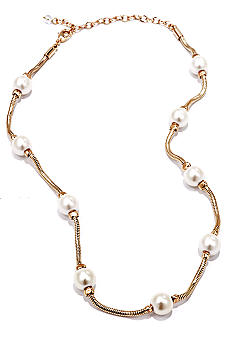 Napier Pearl Station Necklace