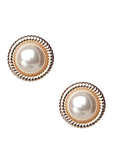 Napier Button Stud Earrings