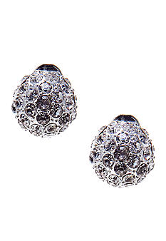 Napier Button Stud Clip Earrings
