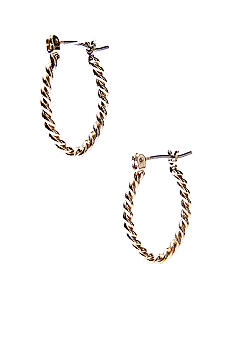 Napier Click It Hoop Earrings