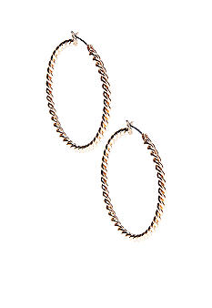 Napier Click It Hoop Earring