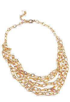 Napier Gold Link Multi-Row Necklace