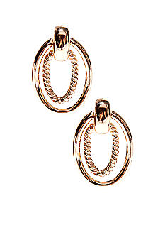 Napier Door Knocker Clip Earrings