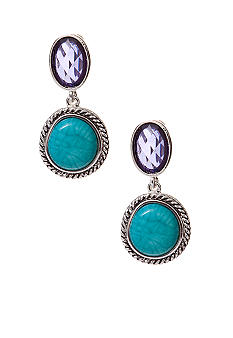 Napier Double Drop Clip Earrings