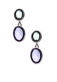Napier Pierced Double Drop Earrings