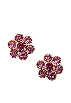 Napier Floral Button Stud Earrings