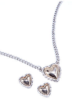 Napier Heart Pendant and Earring Boxed Set