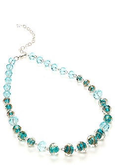 Napier Blue Faceted Bead Necklace