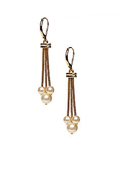 Napier Shaky Pearl Drop Earrings