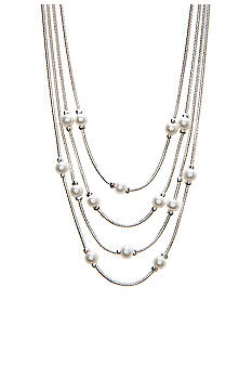 Napier Multi Row Pearl Necklace