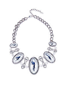 Napier Artisan Silver-Tone Statement Necklace