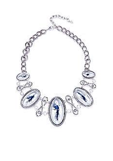 Napier Artisan Silver-Tone Statement Necklace