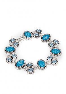 Napier Boxed Aqua Stones Line Bracelet