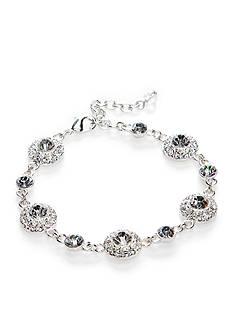 Napier Boxed Silver-Tone Crystal Bracelet