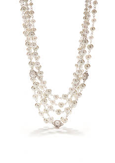 Napier Three Row Pearl Necklace