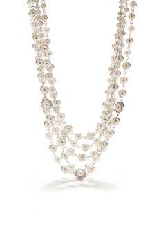 Napier Three Row Pearl Necklace