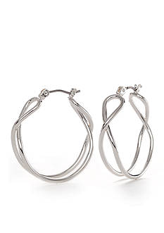 Napier Clicktop Medium Hoop Earrings