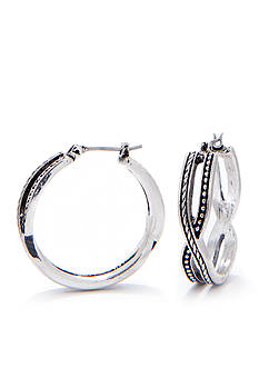 Napier Medium Twisted Clicktop Hoop Earrings