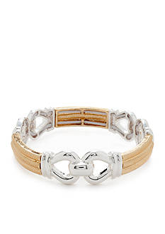 Napier Gold-Tone and Silver-Tone Stretch Bracelet