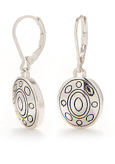 Napier Antiqued Silver-Tone Small Drop Earrings