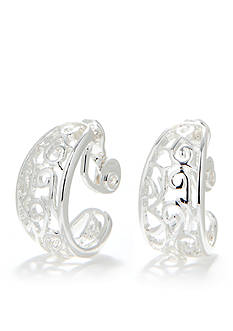 Napier Swirl C Clip Earrings