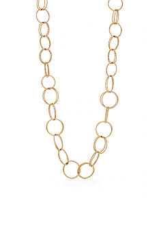 Napier Texturally Links Gold-Tone Link Chain Necklace
