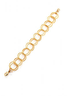 Napier Texturally Links Gold-Tone Link Chain Bracelet