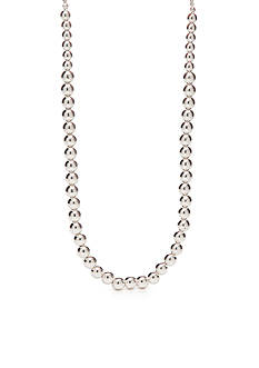 Napier Silver-Tone Beaded Collar Necklace
