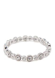 Napier Silver-Tone Crystal Stretch Bracelet