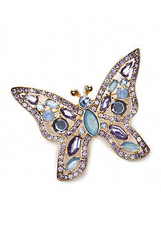 Napier Silver-Tone Butterfly Boxed Pin
