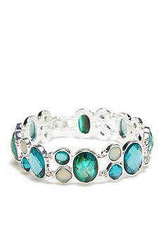Napier Silver-Tone Shades of Blue Link Bracelet