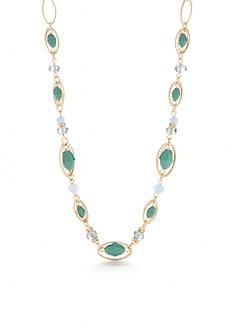 Napier Gold-Tone Midsummer Dance Collar Necklace