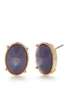 Napier Gold-Tone Palm Beach Stud Earrings
