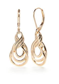 Napier Chain Knot Drop Earrings