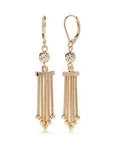 Napier Chain Knot Chandelier Earrings