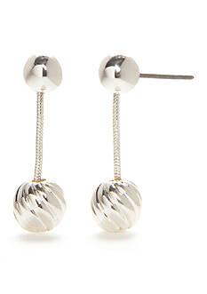 Napier Chain Knot Linear Earrings