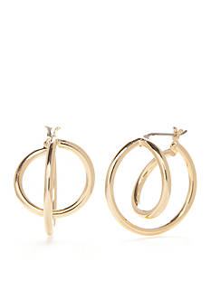 Napier Gold-Tone Orbital Hoop Earrings