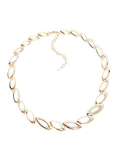 Napier Gold-Tone Golden Weave Collar Necklace