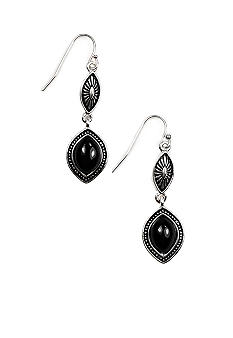 Napier Artisan Silver and Jet Drop Earring