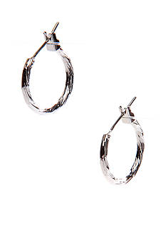 Napier Silver-Tone Twisted Click It Hoop