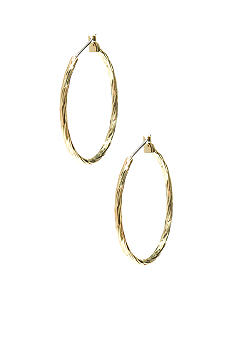Napier Faceted Gold Tubular Hoops