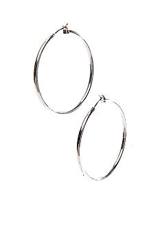 Napier Large Silver Click It Hoop