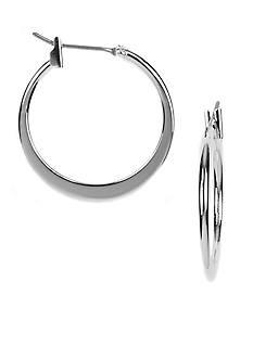 Napier Pierced Silver-Tone Hoops