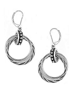 Napier Silver Doorknocker Drop Earrings