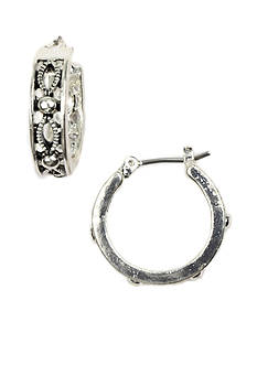 Napier Filigree Hoop Earrings