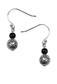 Napier Jet Bead Drop Earring