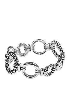 Napier Casual Silver-Tone Stretch Bracelet