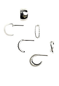 Napier Three Hoop Earring Set