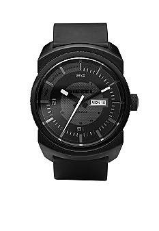 Diesel Men's Black Round Dial with Black Strap Watch