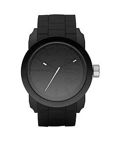 Diesel Men's Analog All Black Round Dial with Black Silicone Strap Watch